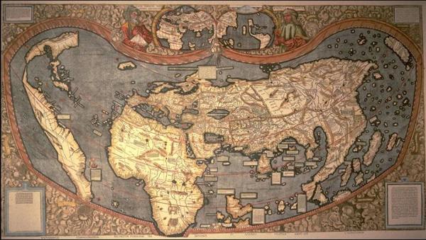 Martin Wadlseem�ller map, 1507